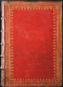 Cover of Homer's Opera in red morocco binding
