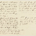 Two pages of letter from Byron to Lady Melbourne with various words underlined.