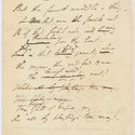 Manuscript of Byron's additional stanzas to 'Ode to Napoleon Buonaparte'.