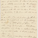 Single page from letter written by Byron.