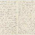 Two pages from letter from Byron to John Cam Hobhouse, 12 October 1821.