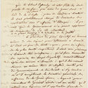 Part of a letter or memorandum from Mavrokordatos to Byron, in French, 21 or 22 March 1824.