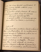 Handwritten notes by Thomson on Lister's lectures, 1879