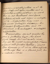 A handwritten page of Thomson's lecture notes, 20th October 1879