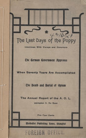 Cover of publication entitled: The last days of the poppy
