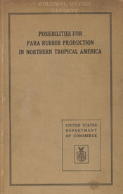Cover of a United States Department of Commerce publication investigating rubber production
