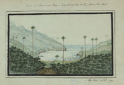 View of Man o' war Bay, descending the hill from the east, page 14