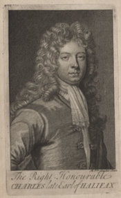 Frontispiece portrait of Charles Montagu, Earl of Halifax from featured item