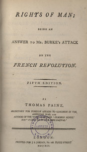 The title page of Paine's Rights of man