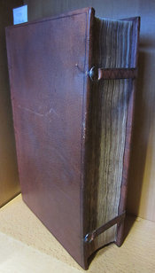 Original leather clasps of this copy of Willis's work