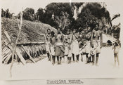 Photograph of a group of Tucopian women in their village