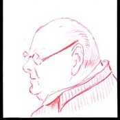Doodle of Churchill by Alan Brooke