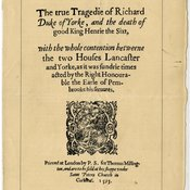 Image of titlepage for The True Tragedy of Richard Duke of York
