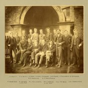 Photograph of dental students from Guy's Hospital including Montagu Hopson, [1892]. (Ref: G/PH18/7)