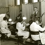 Students in the School of Chiropody at Chelsea Polytechnic, 1930s (Ref: C/PH4/5)