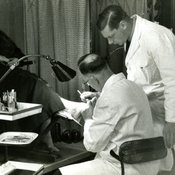 Treatment at Chelsea School of Chiropody, 1930s (Ref: C/PH4/5) )