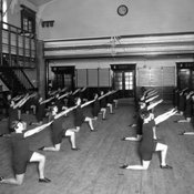Physical training at Chelsea Polytechnic, 1920s (Ref: C/PH4/23)
