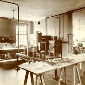 Kitchen at Campden Hill, Department of Household and Social Science, King's College for Women, c1918 (Ref: Q/PH3/11)