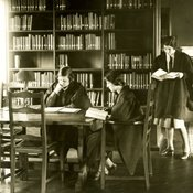 Students at work in the College Library, c1930 (Ref: Q/PH3/14)
