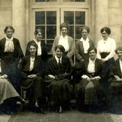 Students in the Department of Household & Social Science at King's College for Women, 1916 (Ref: Q/PH1/1)