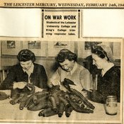 Students undertaking war work, 'Leicester Mercury', 24 Feb 1943 (Ref: Q/PC1/3)
