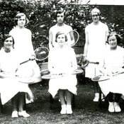 Tennis team at King's College of Household and Social Science, 1930-31 (Ref: Q/PH1/22)