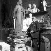Ferdinand Seeboeck in his studio