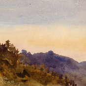 Watercolour view of Simla