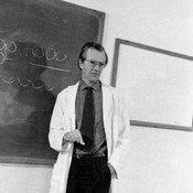 Maurice Wilkins lecturing
