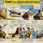 Propaganda cartoon 'Tony of the RAF'