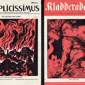Infernal depiction of Churchill in Kladderadatsch leaflet dropped over Germany