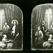 Wheatstone's family in stereo - c 1851-1852