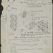 Rough sketches of DNA spiral by Maurice Wilkins (c. 1950-1952)