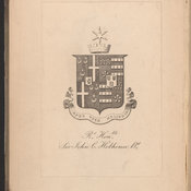 Hobhouse's armorial bookplate