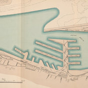 Plan of Montreal harbour.