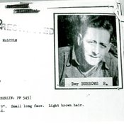 Profile picture of Brian Patchett with details on his height, army rank, date of birth and date of defection