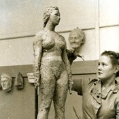 Sculpture at Chelsea Polytechnic, 1950s (Ref: C/PH4/1)