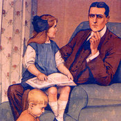 British recruiting poster: 'Daddy, What did you do in the Great War?'