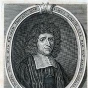 Portrait of Isaac barrow taken from Isaac Barrow. Lectiones mathematicæ XXIII in quibus principia matheseôs generalia exponuntur: habitæ Cantabrigiæ A.D. 1664, 1665, 1666. Londini: typis J. Playford, pro G. Wells, 1685 [Rare Books Collection QA7. B2]