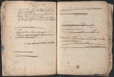 Notebook pages showing manuscript notes on treating a hollow tooth or dental caries