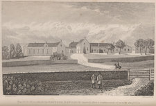 Plate showing Longwood House on St Helena, in which Napoleon was confined