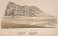 Frontispiece showing the Rock of Gibraltar and surrounding sea