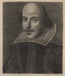 Engraved portrait of William Shakespeare