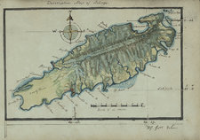 Map of the island of Tobago