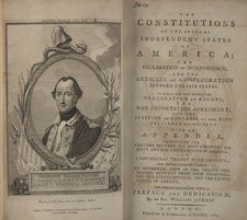Title page and frontispiece portrait of George Washington