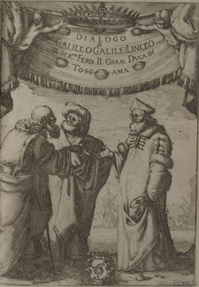 Aristotle in discussion with Ptolemy and Copernicus