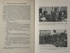 Temporary Executive Committee of the Executive Duma, including its leader Kerensky, and soldiers in the Liteini Prospekt in St Petersburg, with text on facing page