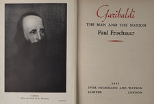 Title page and frontispiece portrait of Garibaldi