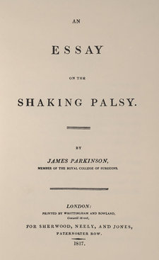 Title page of An essay on the shaking palsy