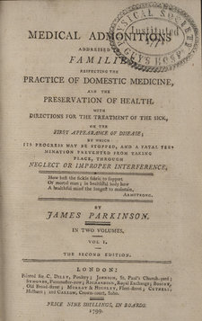 Title page of Medical admonitions